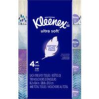 Kleenex Tissue, 2-Ply, 4 Pack, 4 Each