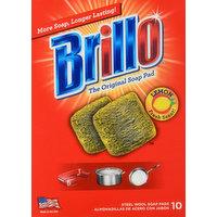 Brillo Soap Pads, Steel Wool, Lemon, 10 Each