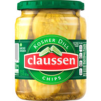 Claussen Pickles, Kosher Dill, Chips, 20 Fluid ounce