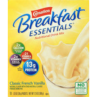 Carnation Nutritional Drink Mix, Classic French Vanilla, 10 Pack, 10 Each