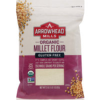 Arrowhead Mills Millet Flour, Organic, Gluten Free, 23 Ounce