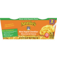 Annie's Macaroni & Cheese, Real Aged Cheddar, 2 Pack, 2 Each