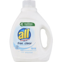 all Detergent, with Stainlifters, Free Clear, 88 Ounce