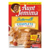 Aunt Jemima Pancake & Waffle Mix, Buttermilk, Complete, Large Size, 32 Ounce