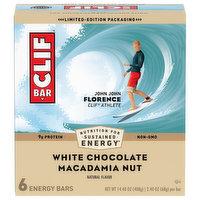 Clif Energy Bars, White Chocolate Macadamia Nut, 6 Each