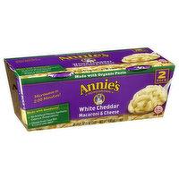 Annie's Macaroni & Cheese, White Cheddar, 2 Pack, 2 Each