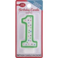 Betty Crocker Birthday Candle, Numeral 1, 3 Inch, 1 Each