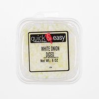 Quick and Easy White Onion Diced, 6 Ounce