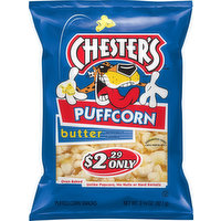 Chester's Puffed Corn, Butter, 3.25 Ounce