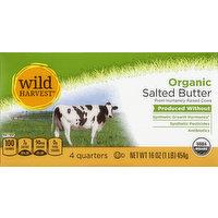 Wild Harvest Butter, Organic, Salted, 16 Ounce