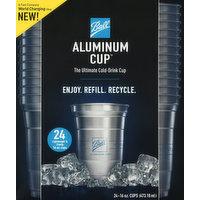 Ball Aluminum Cup, 16 Ounce, 24 Each