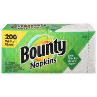 Bounty Napkins, White, 1-Ply, 200 Each