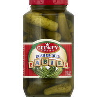 Gedney Pickles, Kosher Dill, Babies, 32 Ounce