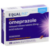 Equaline Omeprazole, 24 Hour, 20 mg, Delayed Release Tablets, 28 Each