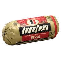 Jimmy Dean Sausage, Premium, Pork, Hot, 16 Ounce
