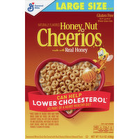 Honey Nut Cheerios Sweetened Whole Grain Oat Cereal, Large Size, 15.4 Ounce