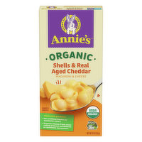 Annie's Macaroni & Cheese, Organic, Shells & Real Aged Cheddar, 6 Ounce