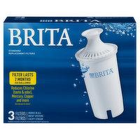 Brita Replacement Filter, Standard, 3 Each