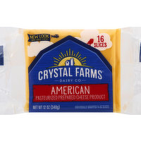 Crystal Farms Cheese Slices, American, 16 Each