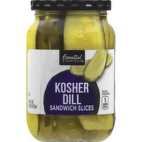 Essential Everyday Kosher Dill, Sandwich Slices, 16 Ounce