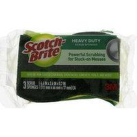 Scotch Brite Scrub Sponges, Heavy Duty, 3 Pack, 3 Each