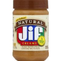 Jif Peanut Butter, Natural, Creamy, 28 Ounce