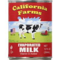 California Farms Evaporated Milk, 12 Ounce