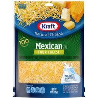 Kraft Shredded Cheese, Four Cheese, Mexican Style, 8 Ounce