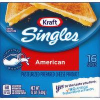 Kraft Cheese Slices, American, 16 Each