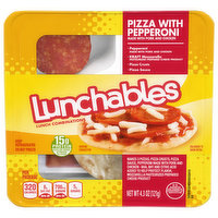 Lunchables Lunch Combinations, Pizza with Pepperoni, 4.3 Ounce