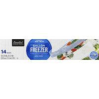 Essential Everyday Freezer Bags, Double Zipper, Gallon, 14 Each