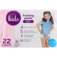 Basics For Kids Training Pants, 3T-4T (32-40 lb), Girls, 22 Each
