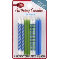 Betty Crocker Birthday Candle, Cool in Blue, 2.75 Inch, 16 Each