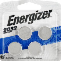 Energizer Batteries, Lithium, 2032, 4 Each