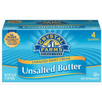 Crystal Farms Unsalted Butter, 16 Ounce