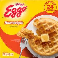 Eggo Waffles, Homestyle, Family Pack, 24 Each