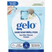 Gelo Hand Soap Refill Pods, Foaming, Sea Mist, Mineral, Freesia, 8 Each