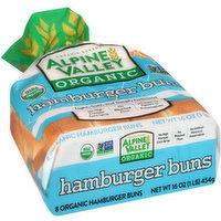 Alpine Valley Organic Hamburger Buns, 16 Ounce