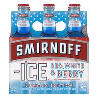 Smirnoff Malt Beverage, Premium, Red, White & berry, 6 Each