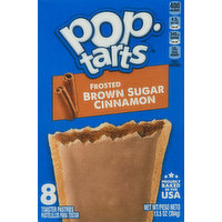 Pop Tarts Toaster Pastries, Brown Sugar Cinnamon, Frosted, 8 Pack, 8 Each