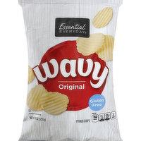 Essential Everyday Potato Chips, Original, Wavy, 9 Ounce