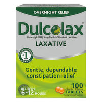 Dulcolax Laxative, 5 mg, Comfort Coated Tablets, 100 Each