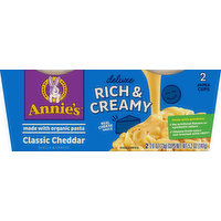 Annie's Shells & Cheese, Classic Cheddar, 2 Pack, 2 Each