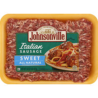 Johnsonville Italian Sausage, All Natural, Sweet, 16 Ounce