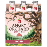 Angry Orchard Beer, Hard Cider, Rose, 6 Each