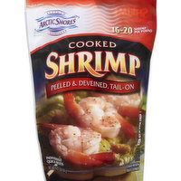 Arctic Shores Shrimp, Cooked, Peeled & Deveined, Tail-Off, 16 Ounce