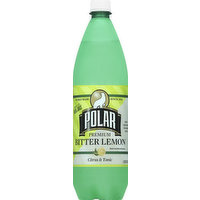 Polar Bitter Lemon, Premium, 33.8 Ounce