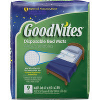 GoodNites Bed Mats, Disposable, 9 Each