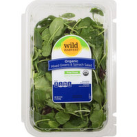 Wild Harvest Mixed Greens & Spinach Salad, Organic, 16 Ounce