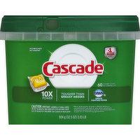 Cascade Dishwasher Detergent, Lemon Scent, Action Pacs, 60 Each